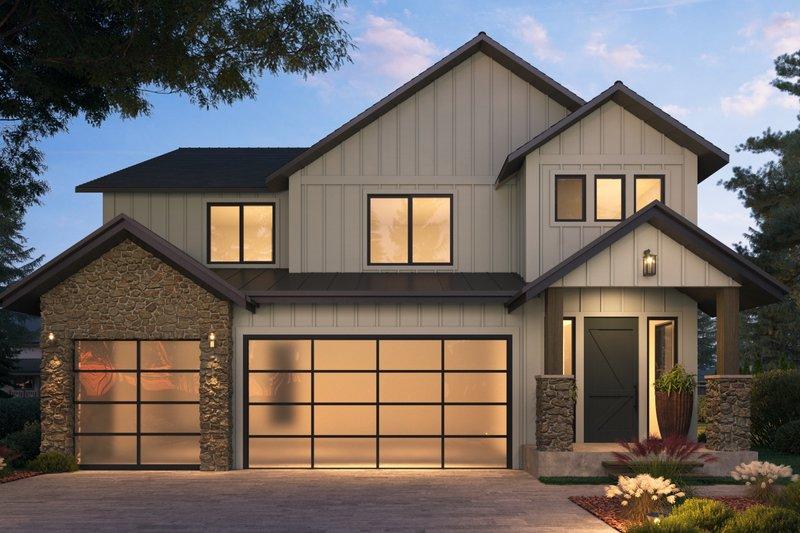 Architectural House Design - Craftsman Exterior - Front Elevation Plan #1066-114