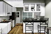Cottage Style House Plan - 3 Beds 2 Baths 1260 Sq/Ft Plan #44-175