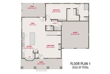 Craftsman Floor Plan - Main Floor Plan Plan #461-70