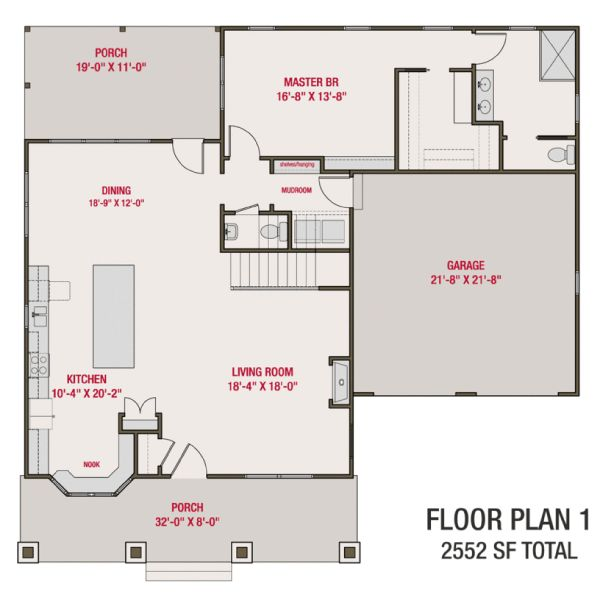 Craftsman Floor Plan - Main Floor Plan #461-70