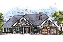 European Exterior - Front Elevation Plan #70-644