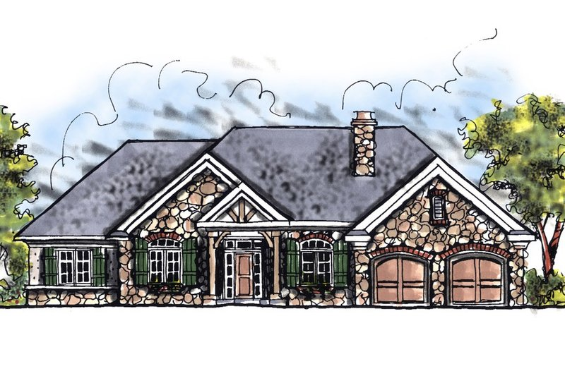 Dream House Plan - European Exterior - Front Elevation Plan #70-644
