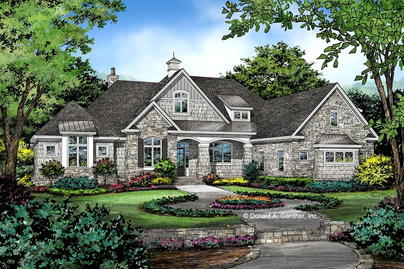 Architectural House Design - Craftsman Exterior - Front Elevation Plan #929-1072