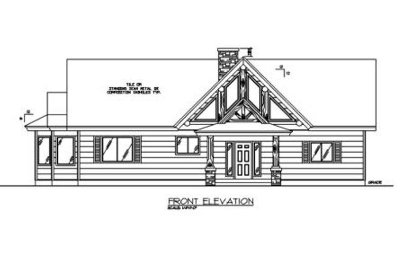 Exterior - Other Elevation Plan #117-467 - Houseplans.com