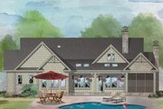 Craftsman Style House Plan - 3 Beds 2 Baths 1912 Sq/Ft Plan #929-998 Exterior - Rear Elevation