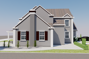 European Style House Plan - 4 Beds 4 Baths 3737 Sq/Ft Plan #542-15 Exterior - Other Elevation