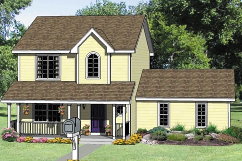 Traditional Style House Plan - 3 Beds 2.5 Baths 1486 Sq/Ft Plan #116-234 Exterior - Front Elevation