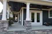 Traditional Style House Plan - 4 Beds 3.5 Baths 3187 Sq/Ft Plan #437-56 Exterior - Covered Porch
