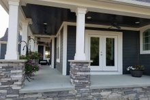 Dream House Plan - Traditional Exterior - Covered Porch Plan #437-56