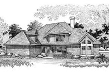 Home Plan Design - Traditional Exterior - Rear Elevation Plan #45-201