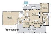 Farmhouse Style House Plan - 3 Beds 3 Baths 2414 Sq/Ft Plan #120-189 Floor Plan - Main Floor