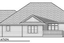 Cottage Exterior - Rear Elevation Plan #70-861