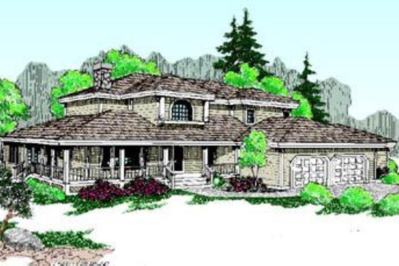 Farmhouse Exterior - Front Elevation Plan #60-200 - Houseplans.com