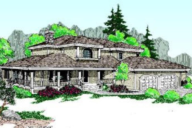 Farmhouse Style House Plan - 4 Beds 3.5 Baths 3091 Sq/Ft Plan #60-200 Exterior - Front Elevation
