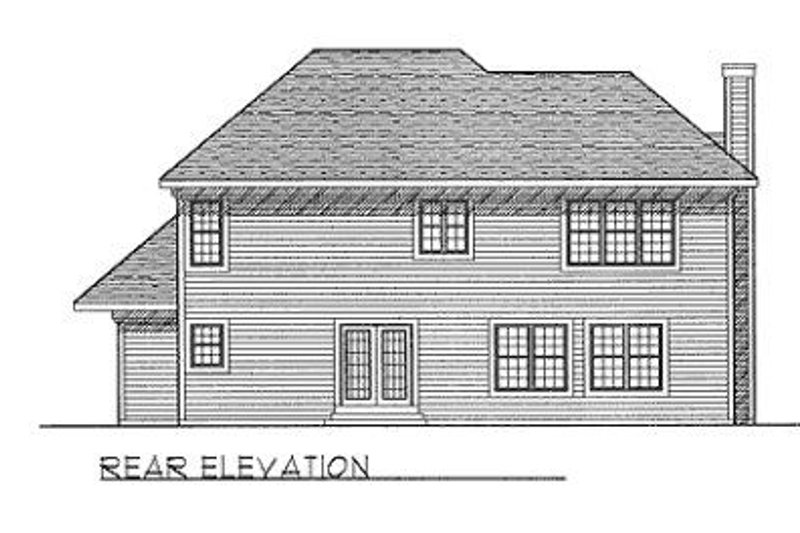 Traditional Exterior - Rear Elevation Plan #70-387 - Houseplans.com