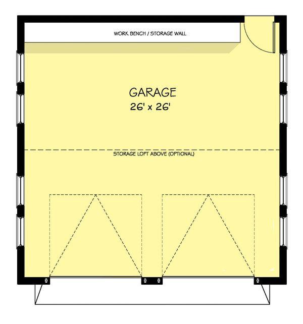 Farmhouse Floor Plan - Main Floor Plan Plan #888-19