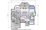 European Style House Plan - 4 Beds 3.5 Baths 4145 Sq/Ft Plan #123-110 Floor Plan - Main Floor