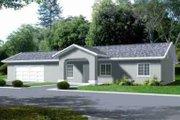 Adobe / Southwestern Style House Plan - 3 Beds 2 Baths 1344 Sq/Ft Plan #1-1195