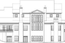 Southern Exterior - Rear Elevation Plan #119-198