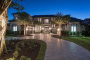 Mediterranean Style House Plan - 6 Beds 7.5 Baths 7395 Sq/Ft Plan #548-4 Exterior - Front Elevation
