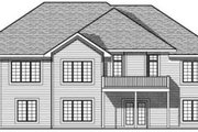 Traditional Style House Plan - 5 Beds 3.5 Baths 2003 Sq/Ft Plan #70-618 Exterior - Rear Elevation