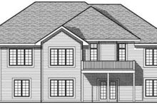 Dream House Plan - Traditional Exterior - Rear Elevation Plan #70-618