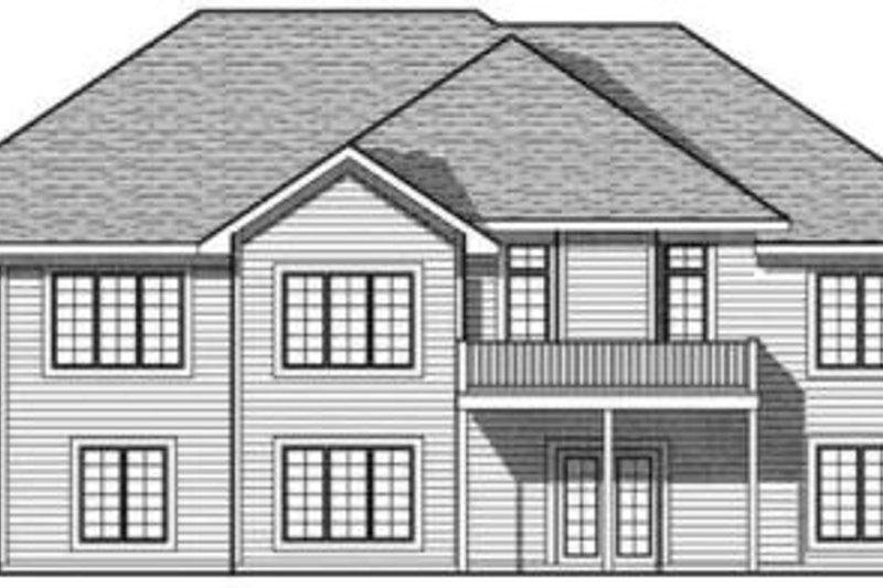 Traditional Exterior - Rear Elevation Plan #70-618 - Houseplans.com