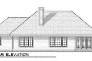 Craftsman Style House Plan - 4 Beds 3 Baths 2819 Sq/Ft Plan #70-453 Exterior - Rear Elevation