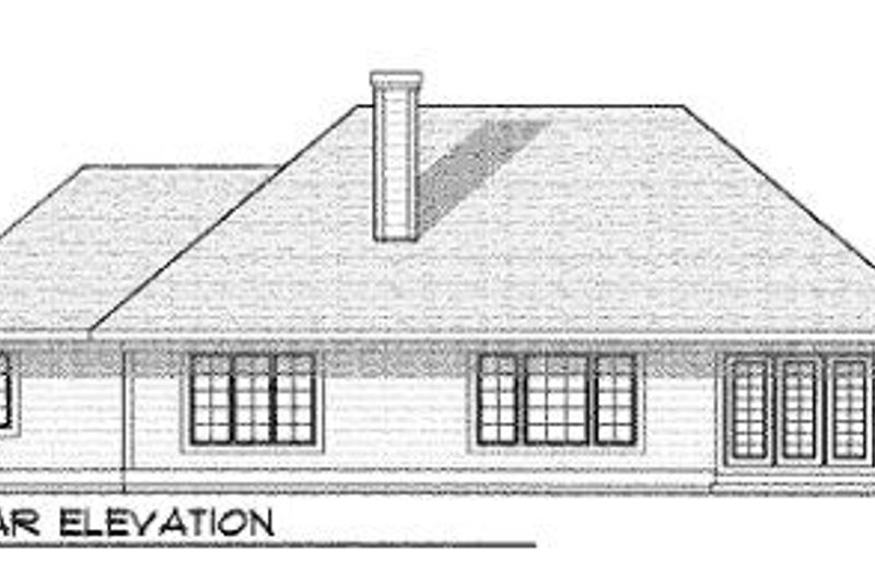 Craftsman Exterior - Rear Elevation Plan #70-453 - Houseplans.com