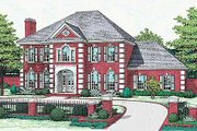 Colonial Style House Plan - 5 Beds 3.5 Baths 3381 Sq/Ft Plan #310-502 Exterior - Front Elevation