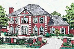Colonial Exterior - Front Elevation Plan #310-502