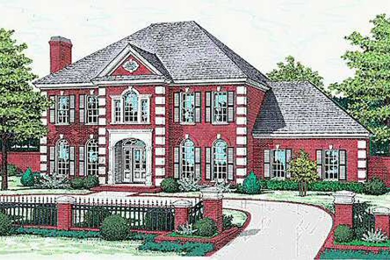 Colonial Style House Plan - 5 Beds 3.5 Baths 3381 Sq/Ft Plan #310-502