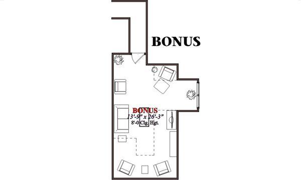 European Floor Plan - Upper Floor Plan Plan #63-187