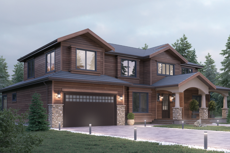 Traditional Style House Plan - 4 Beds 3 Baths 3501 Sq/Ft Plan #1066-68 Exterior - Front Elevation