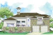 Mediterranean Style House Plan - 3 Beds 2.5 Baths 2732 Sq/Ft Plan #930-280 Exterior - Rear Elevation