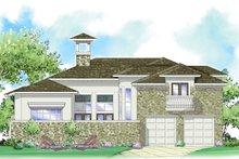 Architectural House Design - Mediterranean Exterior - Rear Elevation Plan #930-280