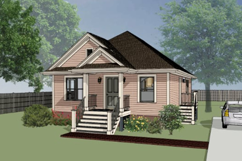Cottage Exterior - Front Elevation Plan #79-114