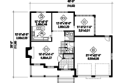 Traditional Style House Plan - 3 Beds 2 Baths 2362 Sq/Ft Plan #25-4496 Floor Plan - Main Floor Plan