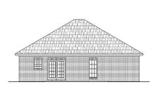 Country Exterior - Rear Elevation Plan #430-5