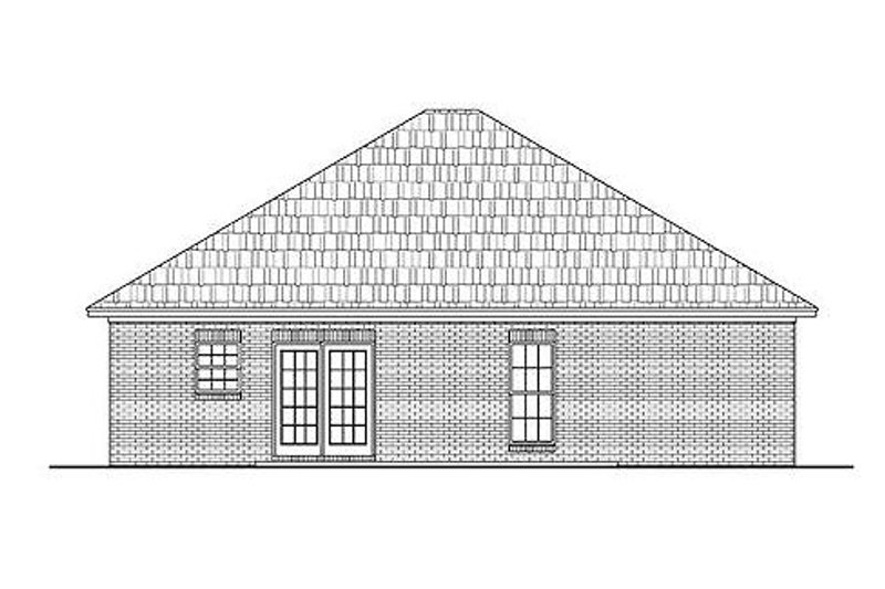 Country Exterior - Rear Elevation Plan #430-5 - Houseplans.com
