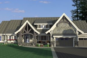 Craftsman Exterior - Front Elevation Plan #51-575