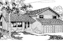 Dream House Plan - Traditional Exterior - Front Elevation Plan #60-343