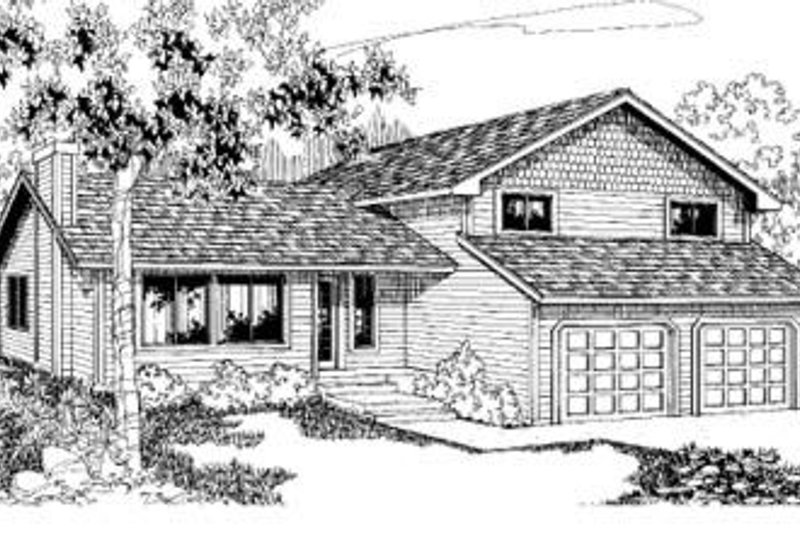 Traditional Exterior - Front Elevation Plan #60-343 - Houseplans.com