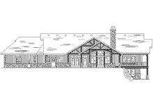 House Plan Design - Traditional Exterior - Rear Elevation Plan #5-298