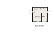 Modern Style House Plan - 2 Beds 1 Baths 798 Sq/Ft Plan #905-3 Floor Plan - Upper Floor Plan
