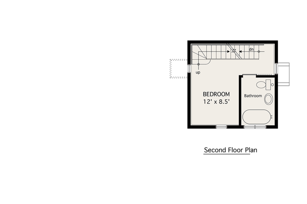 Modern Floor Plan - Upper Floor Plan Plan #905-3
