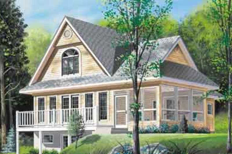 Farmhouse Exterior - Front Elevation Plan #23-525 - Houseplans.com