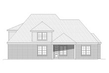 House Plan Design - European Exterior - Rear Elevation Plan #932-30