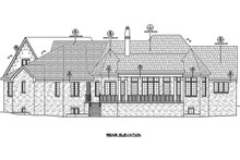 House Plan Design - European Exterior - Rear Elevation Plan #20-2286