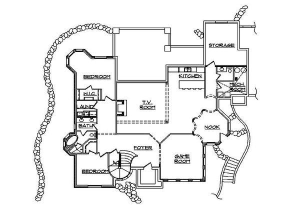 European Floor Plan - Lower Floor Plan Plan #5-447